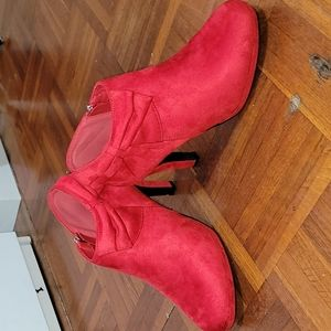 Women's Red Bow Booties